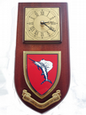 British Army Training Support Unit Belize Regimental Wall Plaque Clock